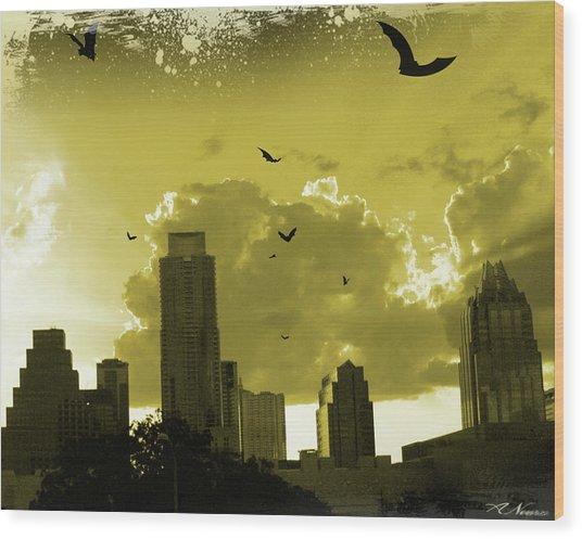 Bat City Wood Print