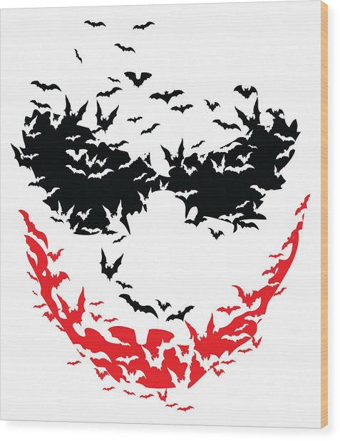 Bat Face Wood Print