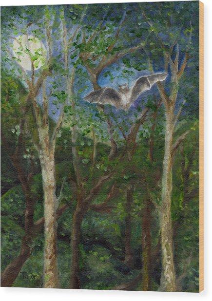 Bat Medicine Wood Print