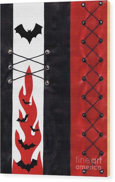 Bat Outa Hell Wood Print