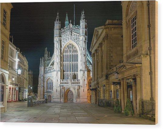 Bath Abbey Wood Print