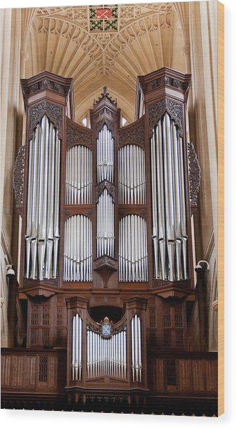 Bath Abbey Organ Wood Print