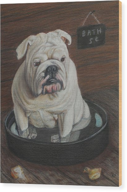 Bath Five Cents Wood Print by Angela Finney