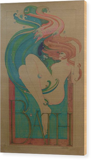 Bath Wood Print by Gary Kaemmer
