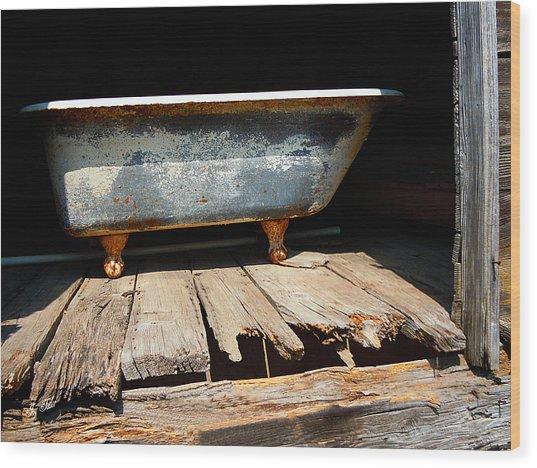 Bath Weight Limit Wood Print