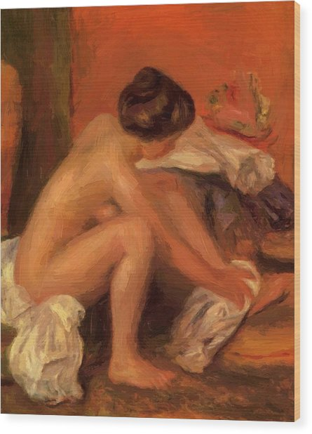 Bather Drying Her Feet 1907 Wood Print