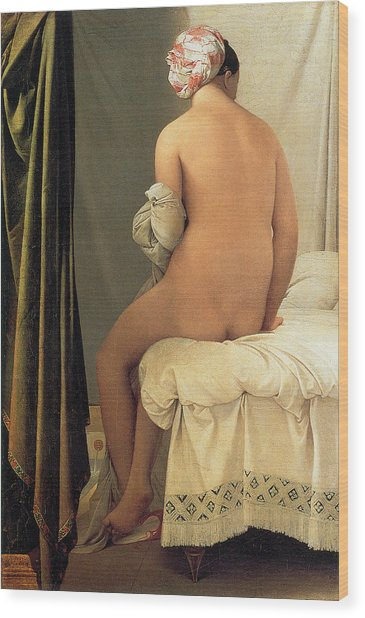 Bather Of Valpincon Wood Print by Jean-August-Dominique Ingres