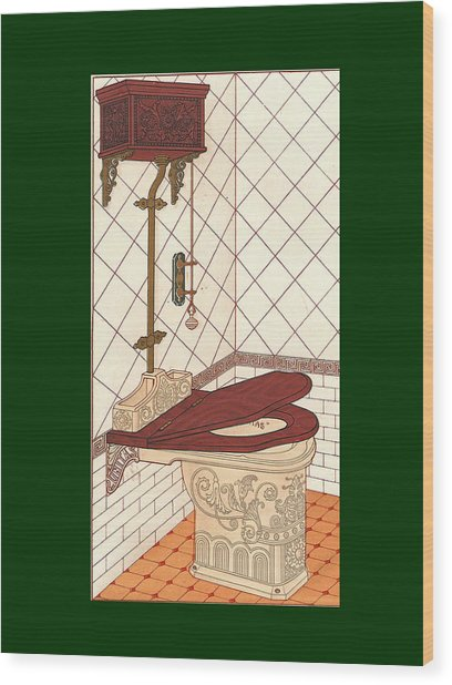 Bathroom Picture One Wood Print