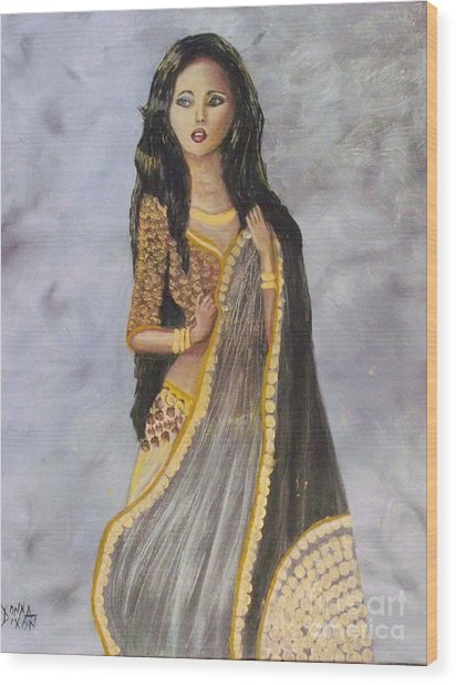 Bathsheba  Wood Print