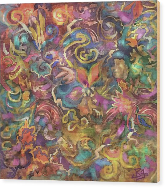 Batik Colorburst Wood Print