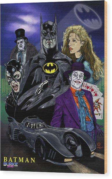Batman 1989 Wood Print by Joseph Burke
