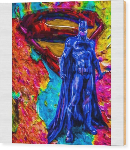 #batman #batmanvsuperman #dc #dccomics Wood Print