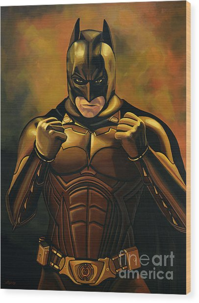 Batman The Dark Knight  Wood Print