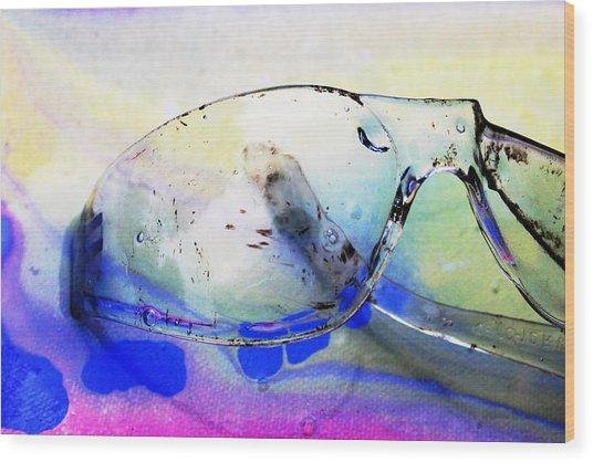 Battered Goggles Wood Print