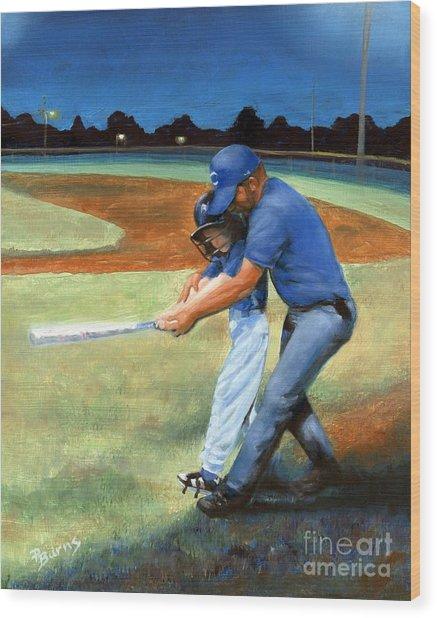 Batting Coach Wood Print