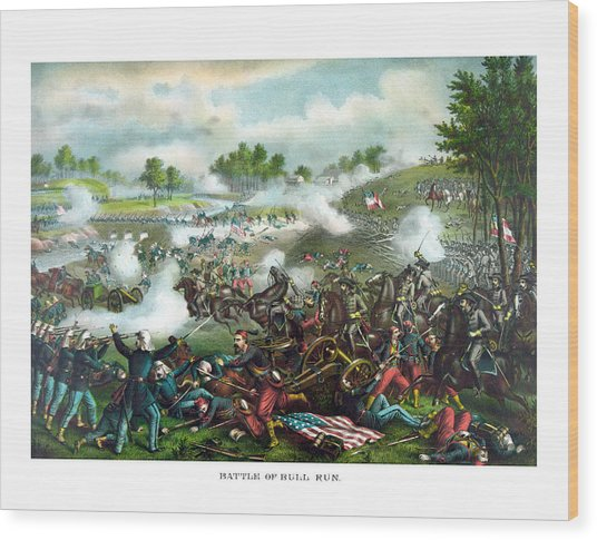 Battle Of Bull Run Wood Print