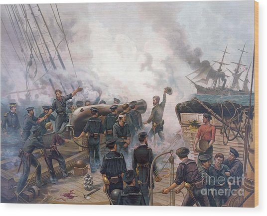 Battle Of Cherbourg Wood Print