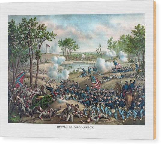 Battle Of Cold Harbor Wood Print