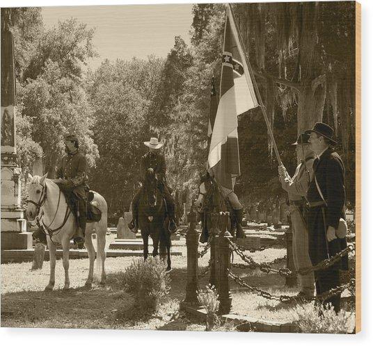 Battle Of Selma - Sepia Wood Print