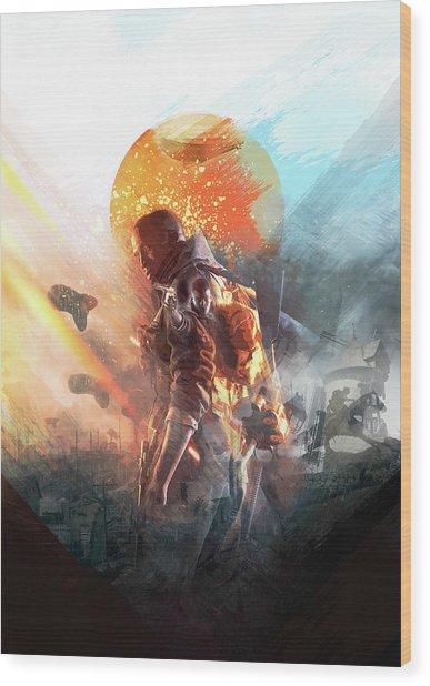 Battlefield Poster Wood Print