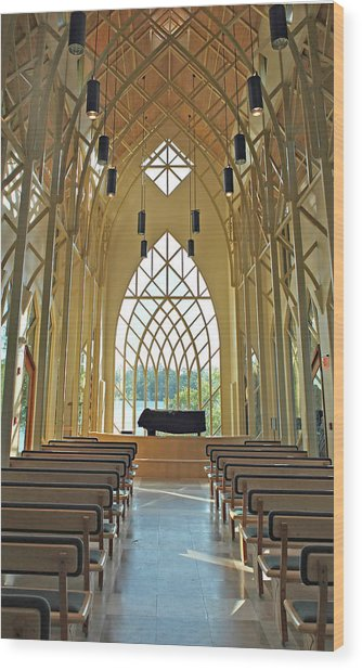 Baughman Meditation Center - Inside Rear Wood Print by Farol Tomson