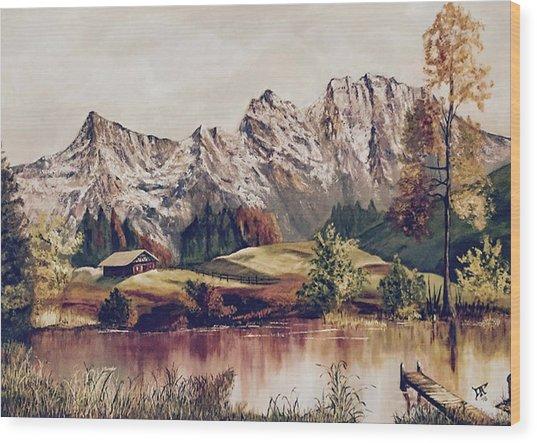 Bavarian Landscape Wood Print