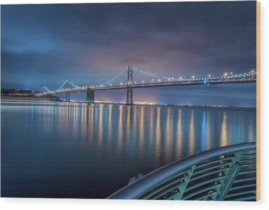 Bay Bridge Blues Wood Print