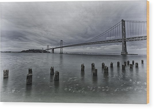 Bay Bridge Wood Print