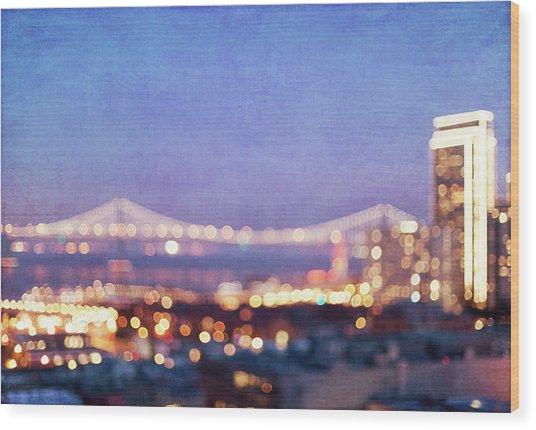 Bay Bridge Glow - San Francisco, California Wood Print