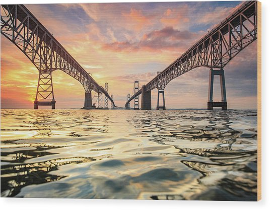 Bay Bridge Impression Wood Print