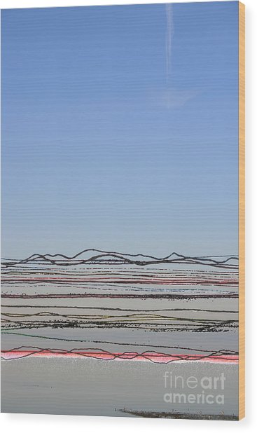 Bay Lines Wood Print by Andy  Mercer