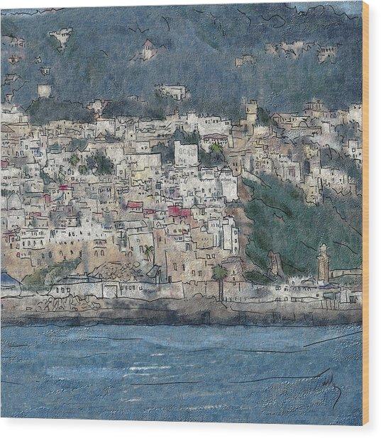 Bay Of Tangier Wood Print