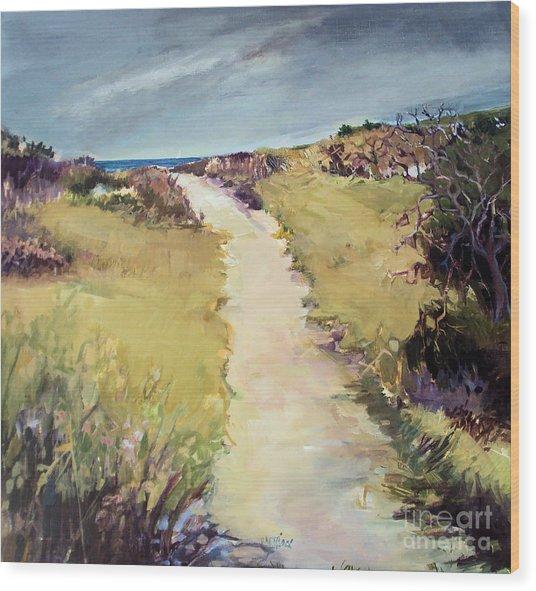 Bay Path Wood Print by Diane Ursin