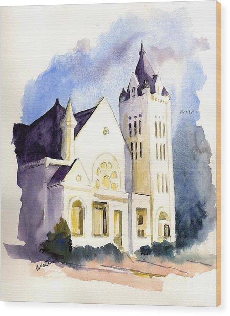 Bay Street Presbyterian Church Wood Print
