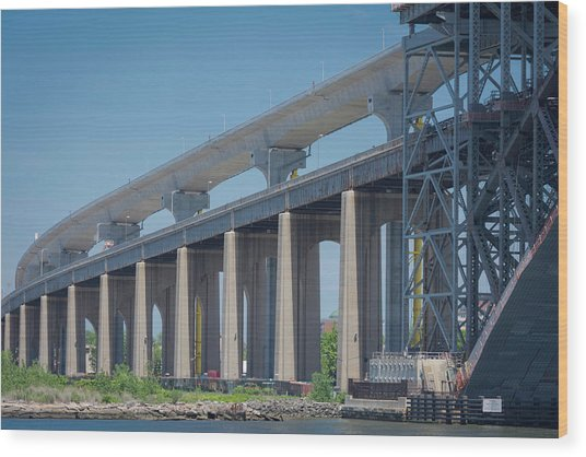 Bayonne Bridge Raising #5 Wood Print