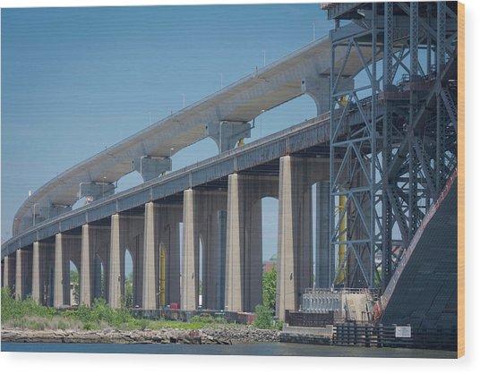 Bayonne Bridge Raising #5 Wood Print