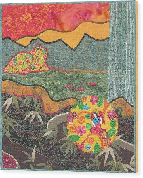 Bayou Bend Wood Print by Salli McQuaid