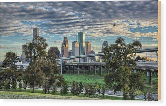 Bayou City Wood Print