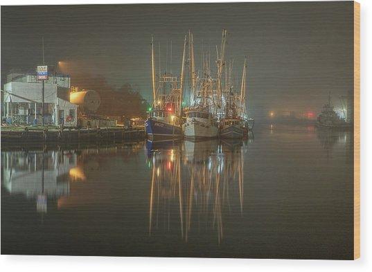 Bayou Fog #1 Wood Print