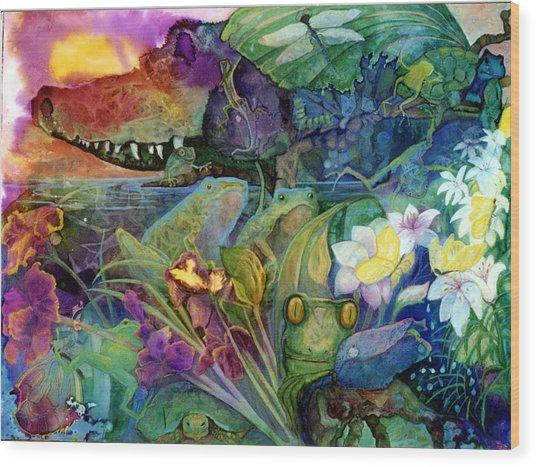 Bayou Magic Wood Print by Valerie Aune