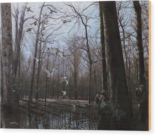 Bayou Meto Morning Wood Print
