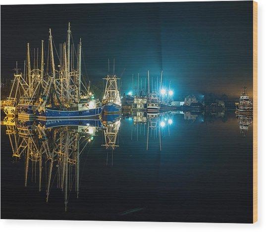 Bayou Nights Wood Print