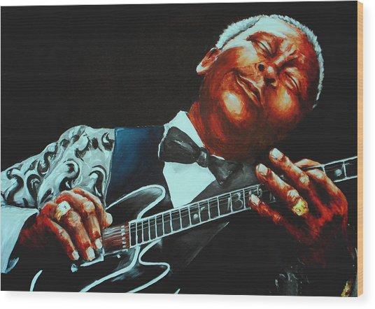 Bb King Of The Blues Wood Print