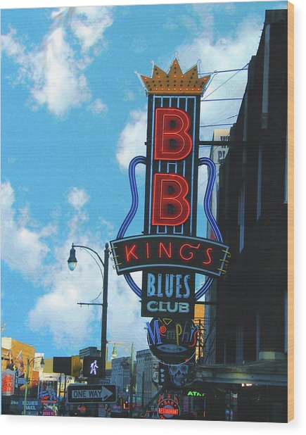 Bb Kings Wood Print