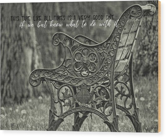 Be Aware Quote Wood Print by JAMART Photography