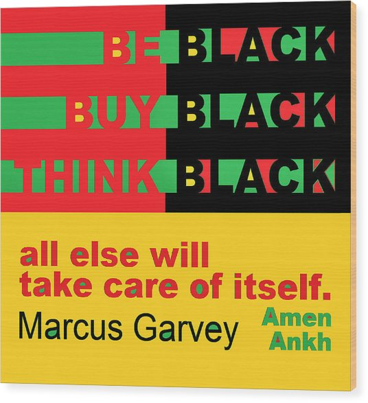 Be Black Rbg Wood Print