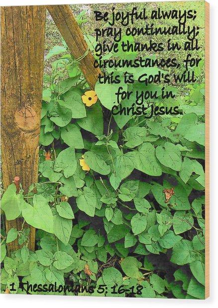 Be Joyful Wood Print