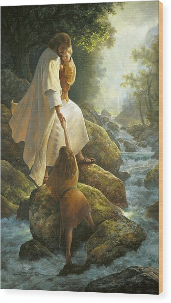 Wood Print featuring the painting Be Not Afraid by Greg Olsen