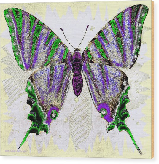 Be Who U R Butterfly Wood Print