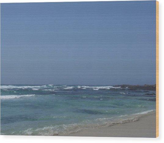 Beach 2 Wood Print by Dawn Marie Black